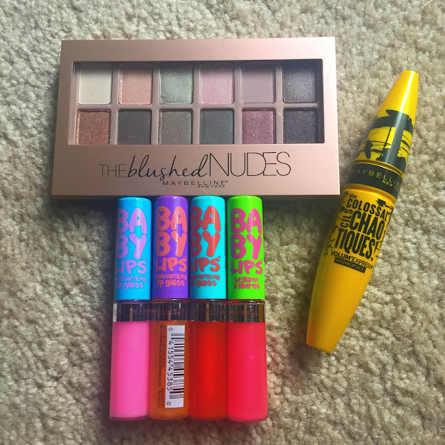 Maybelline, Maybelline Baby Lips Moisturizing Lip Gloss, Maybelline The Blushed Nudes Eyeshadow Makeup Palette, Maybelline The Colosaal Volum'Express Chaotiques Mascara, beauty giveaway, makeup, A Month of Beautiful Giveaways