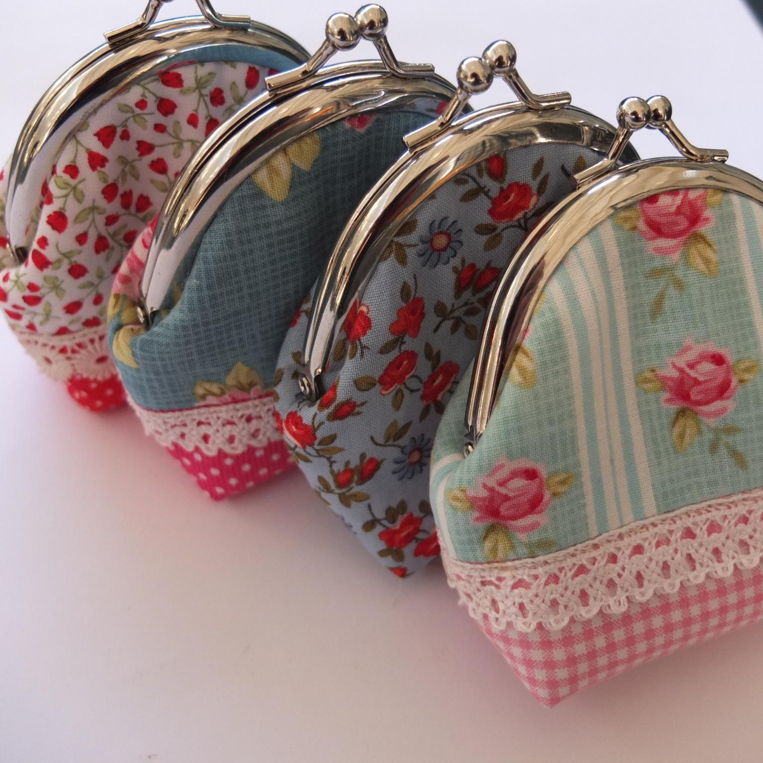 Mintchocolate monederos de tela con cierre met lico - Telas para hacer bolsos ...