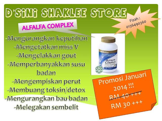 promosi Alfalfa Shaklee, Alfalfa Shaklee, Shaklee Alfalfa, pengedar Shaklee