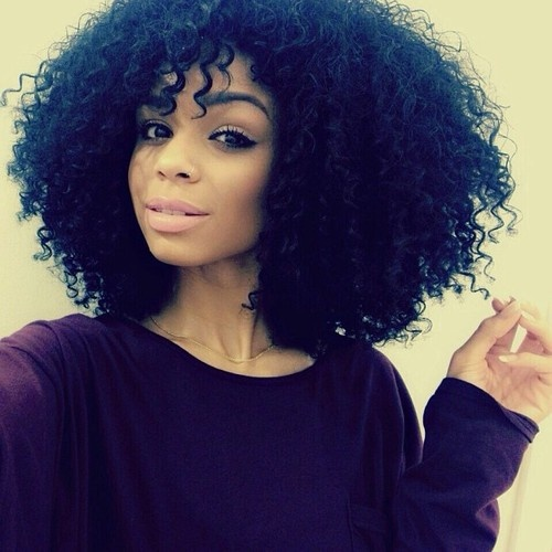 natural black curly hair pinterest
