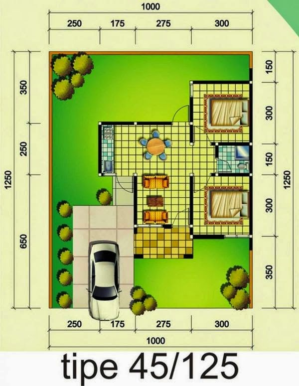 model rumah minimalis Type 45 8