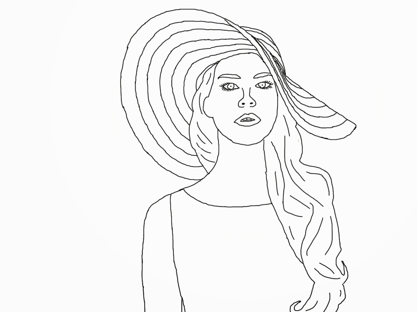 Ashley\'s Digital Art Blog: Celebrity Coloring Book Page