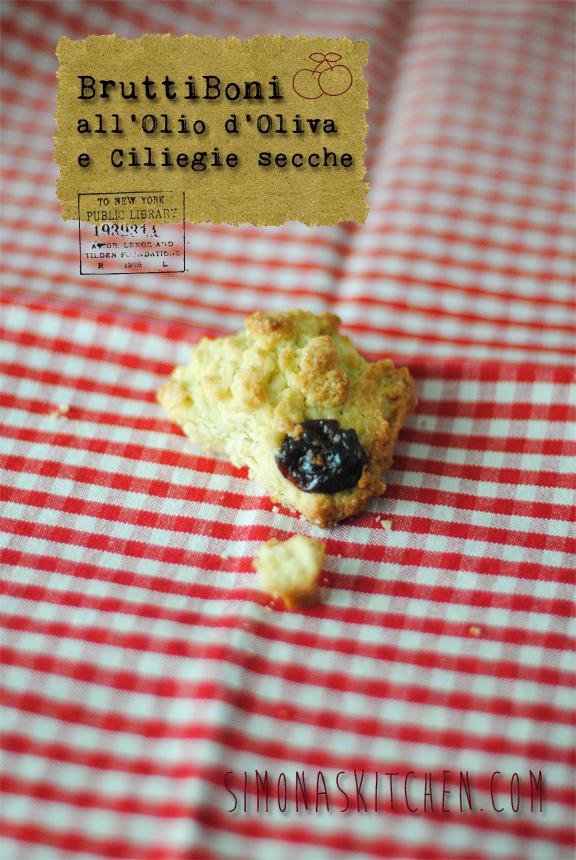 biscotti bruttiboni con olio d'oliva e ciliegie secche