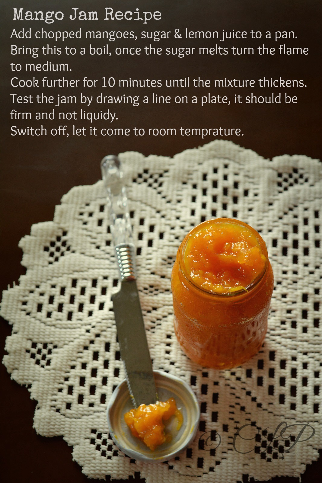 Homemade mango jam recipe