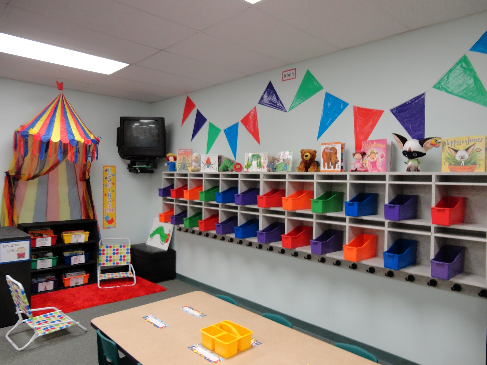 Classroom Cubby Ideas : Welcome to the circus my big classroom reveal yeehaw
