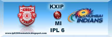 IPL 6 KXIP vs MI Full Scorecards KXIP vs MI Watch Full Highlight