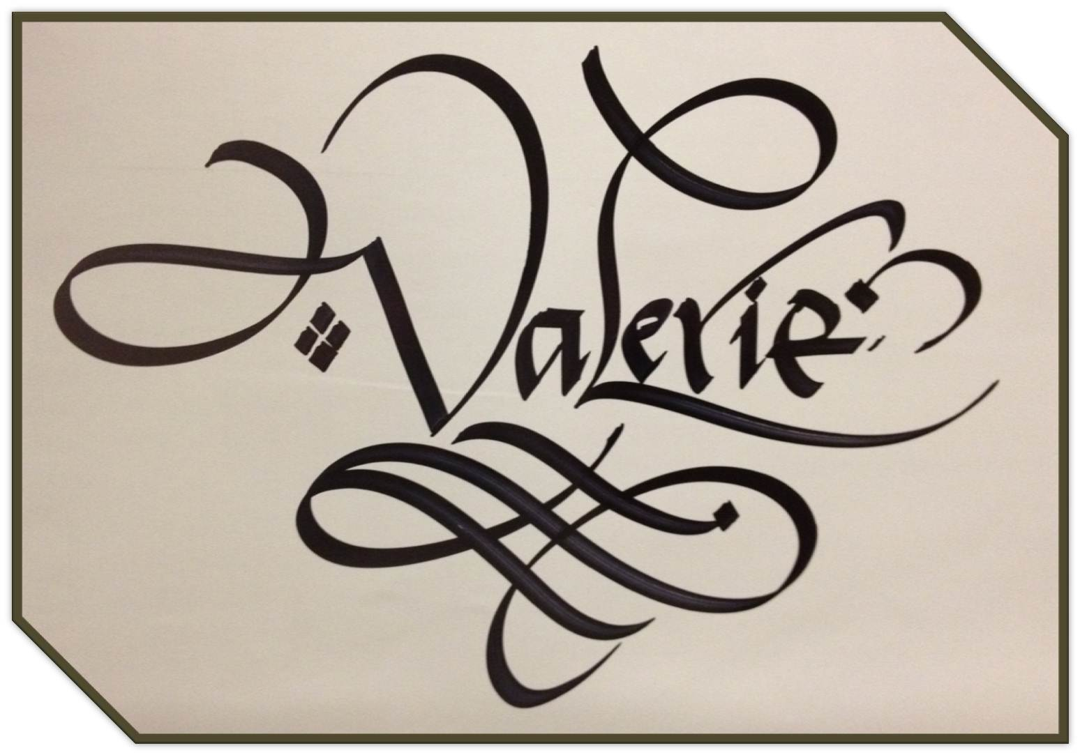 Calligraphy Art Russian Names In Calligraphy Valerie