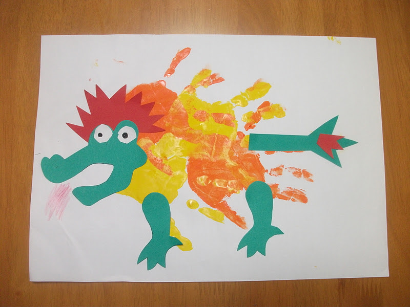 2012 new year dragon craft preschool education for kids for New year s crafts for preschoolers
