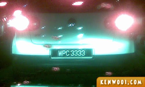 3333 car number plate