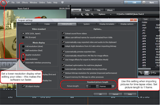 Time Lapse Photography Setting in Magix Edit Pro