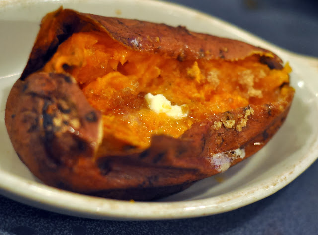 Baked Sweet Potato - Mar Vista Dockside Restaurant & Pub - Longboat Key, FL | Taste As You Go
