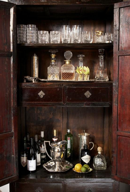 Mod Human Vintage: vintage home / bar area
