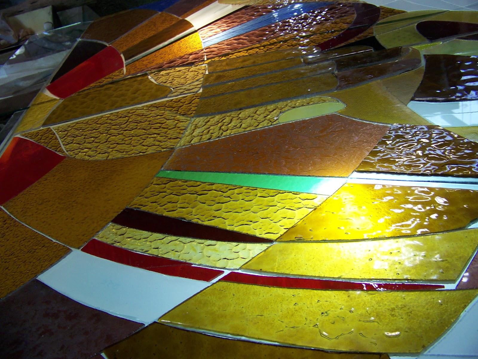 #B2B019 ARTE EM VIDRO GLASS ART de Rosa Groisman: VITRAIS DA CAPELA DO  248 Janelas De Vidro Porto Alegre