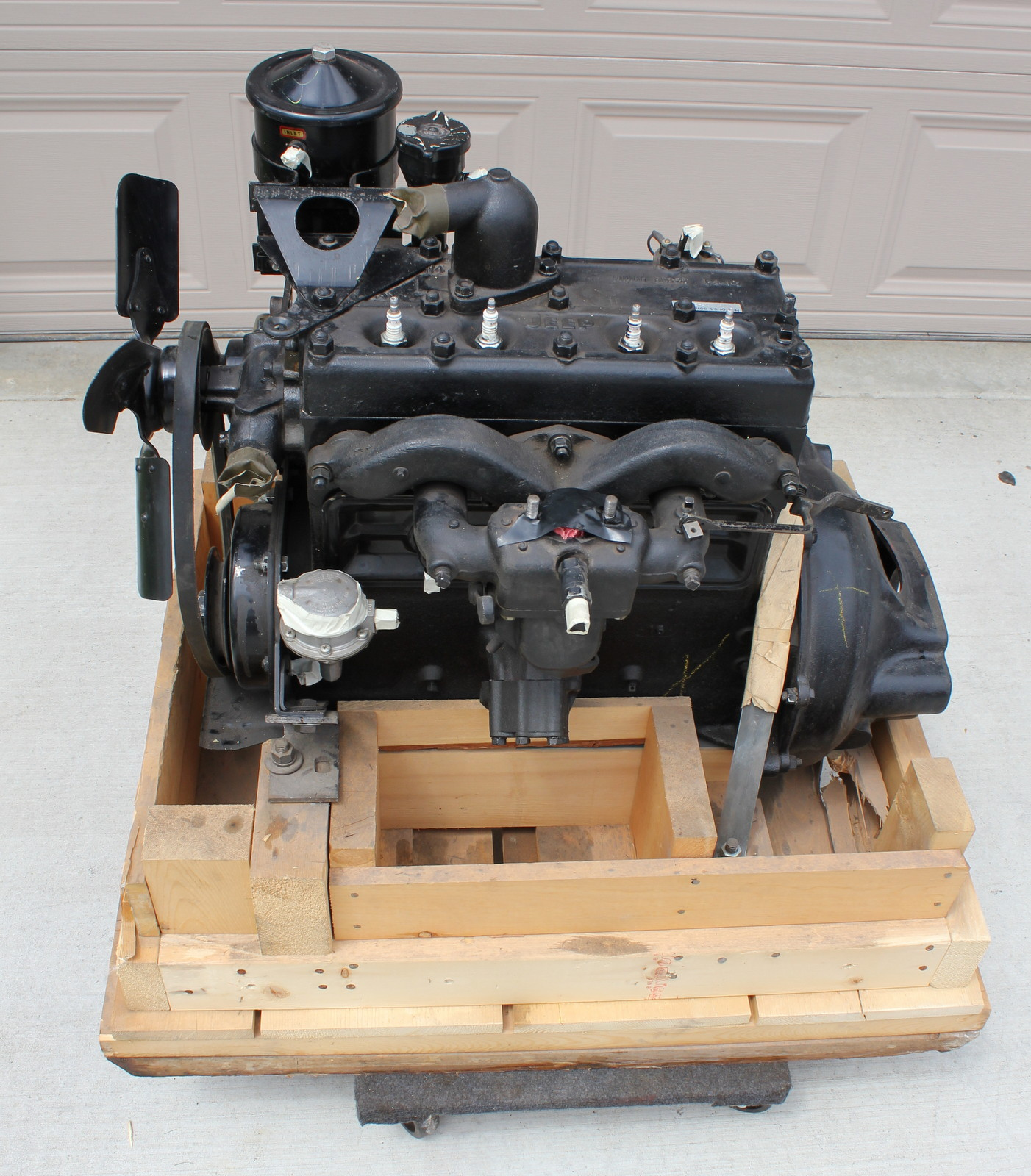 1943 Willys MB Jeep Restoration Project New Old Stock Engine