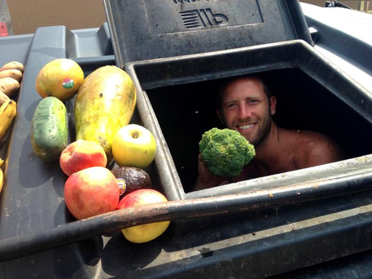 comida con basura