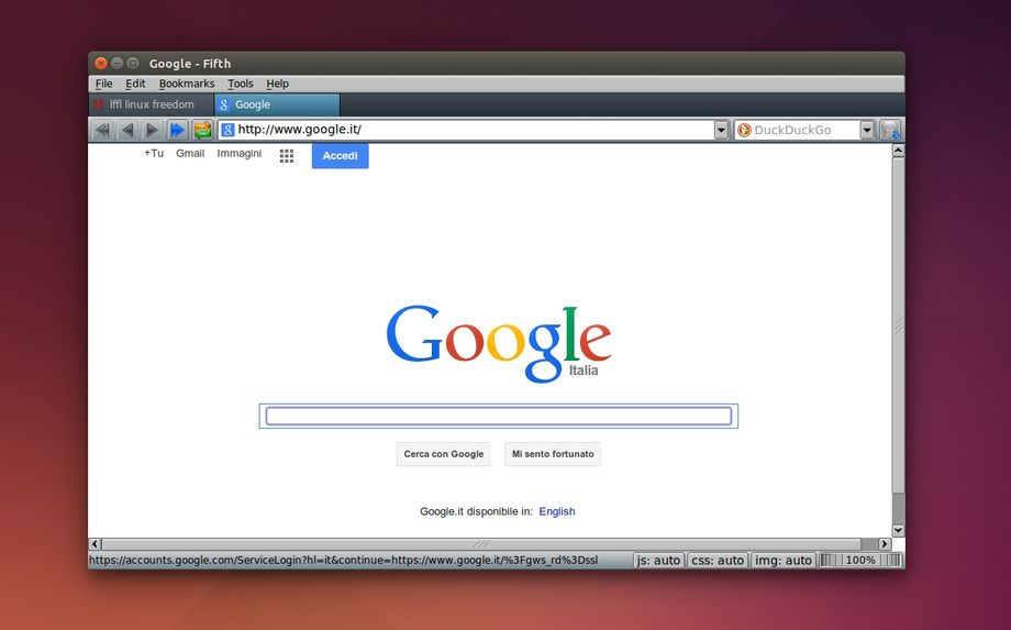 Fifth Browser in Ubuntu