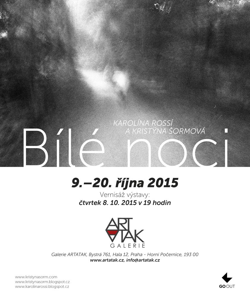 pozvánka na výstavu Bílé noci, Galerie Artatak