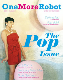 "My ""Bubblegum Girl"" on the cover of the July Issue of Dublin, Ireland&#39;s One More Robot Magazine!"