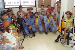 Visita às crianças do Hospital do Hemope