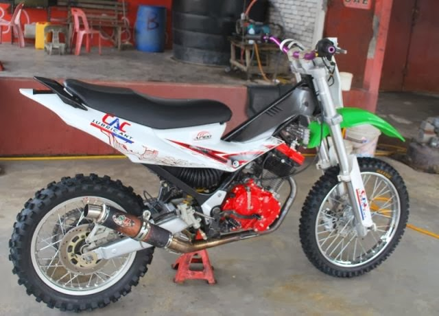 modifikasi satria f150 cross