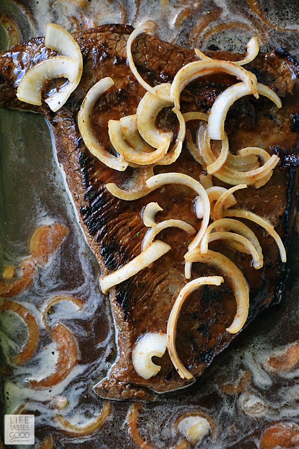 Beer Braised Beef Brisket | by Life Tastes Good #LTGrecipes