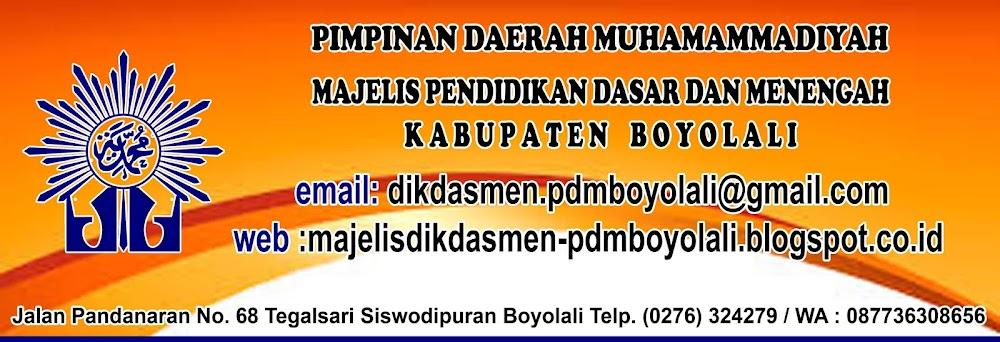 Majelis Dikdasmen Pimpinan Daerah Muhammadiyah Boyolali