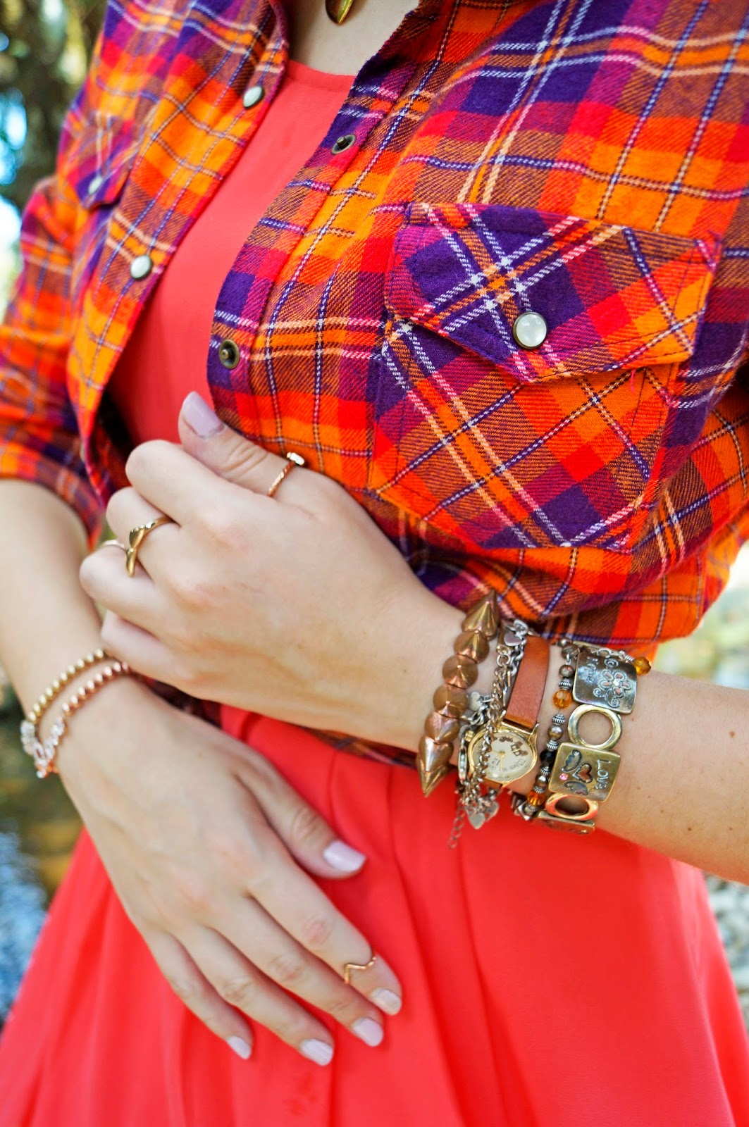 daily outfits, forever 21 dress, plaid shirt outfit, orange dress outfit, comfy outfit, casual outfit