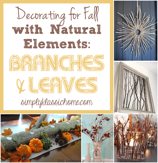 Decorating With Natural Elements With Natural Elements