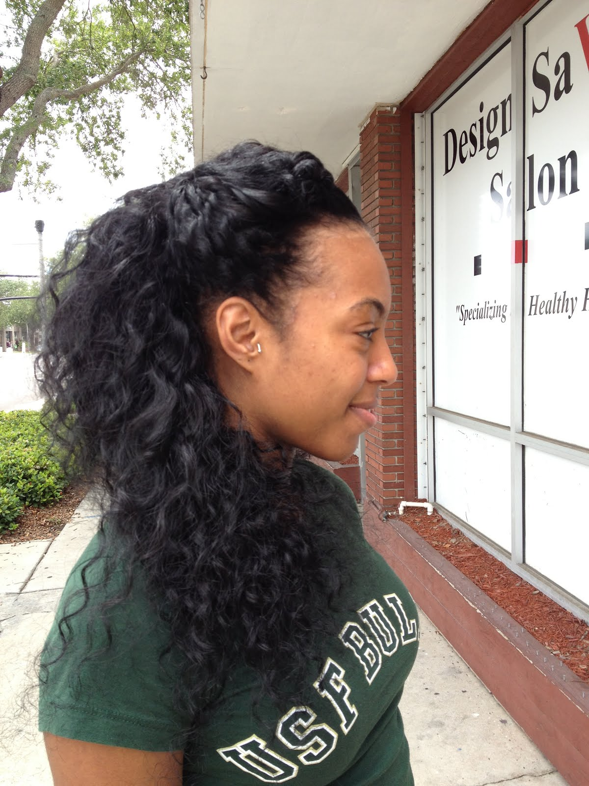 Sew in with Leave Out On Natural Hair