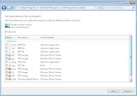 Menu ustawień programów domyślnych dla formatów graficznych Windows