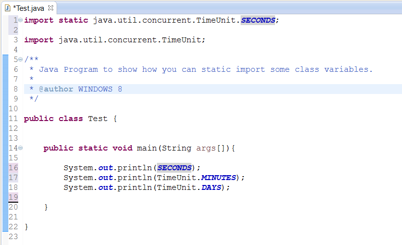 java sample code import other class