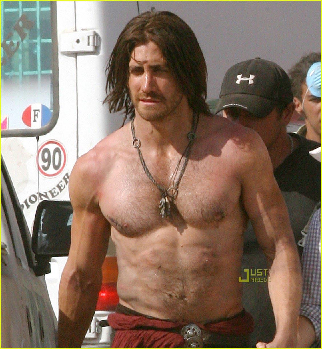 CelebrityLifestyle Jake Gyllenhaal Shirtless 2012