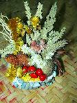 karangan bunga rumput (grass flower bouquet)