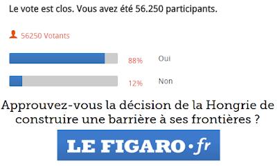 Le Figaro, menekültválság, Magyarország, határkerítés