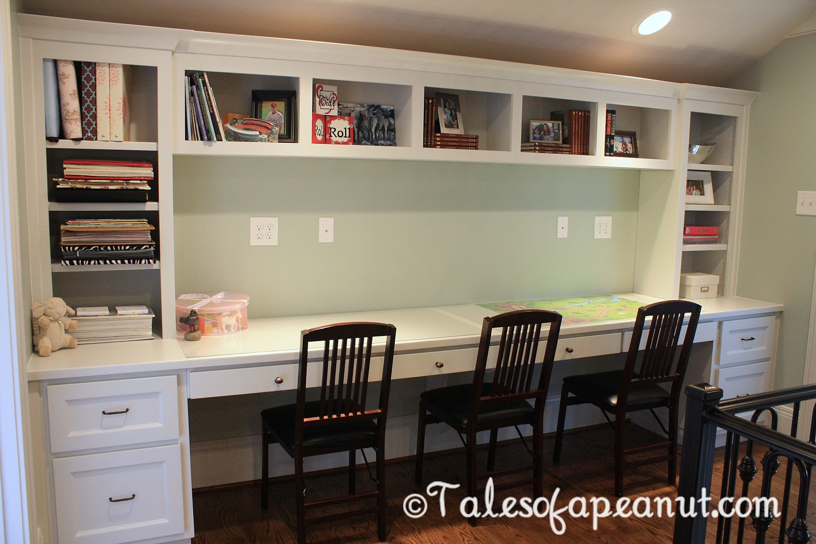 Building a home kid 39 s study jenn elwell for Study room wall cabinets