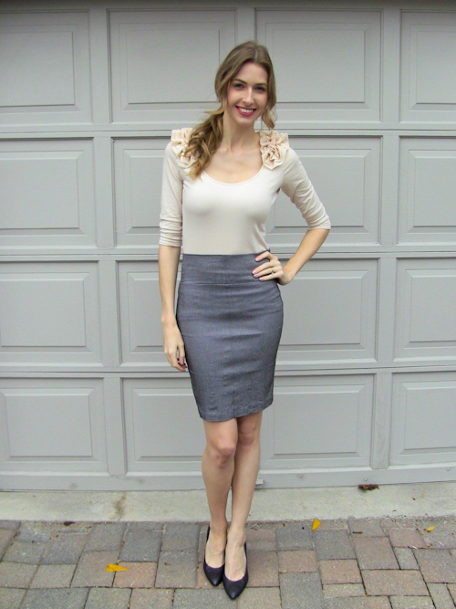Grey pencil skirt outfits - Grey Pencil Skirt Outfits – Fashionable Skirts 2017 Photo Blog