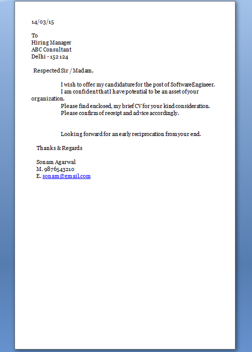 coverletter resume volumetrics co cover letter in resume sample - Cover Letter And Resume Example