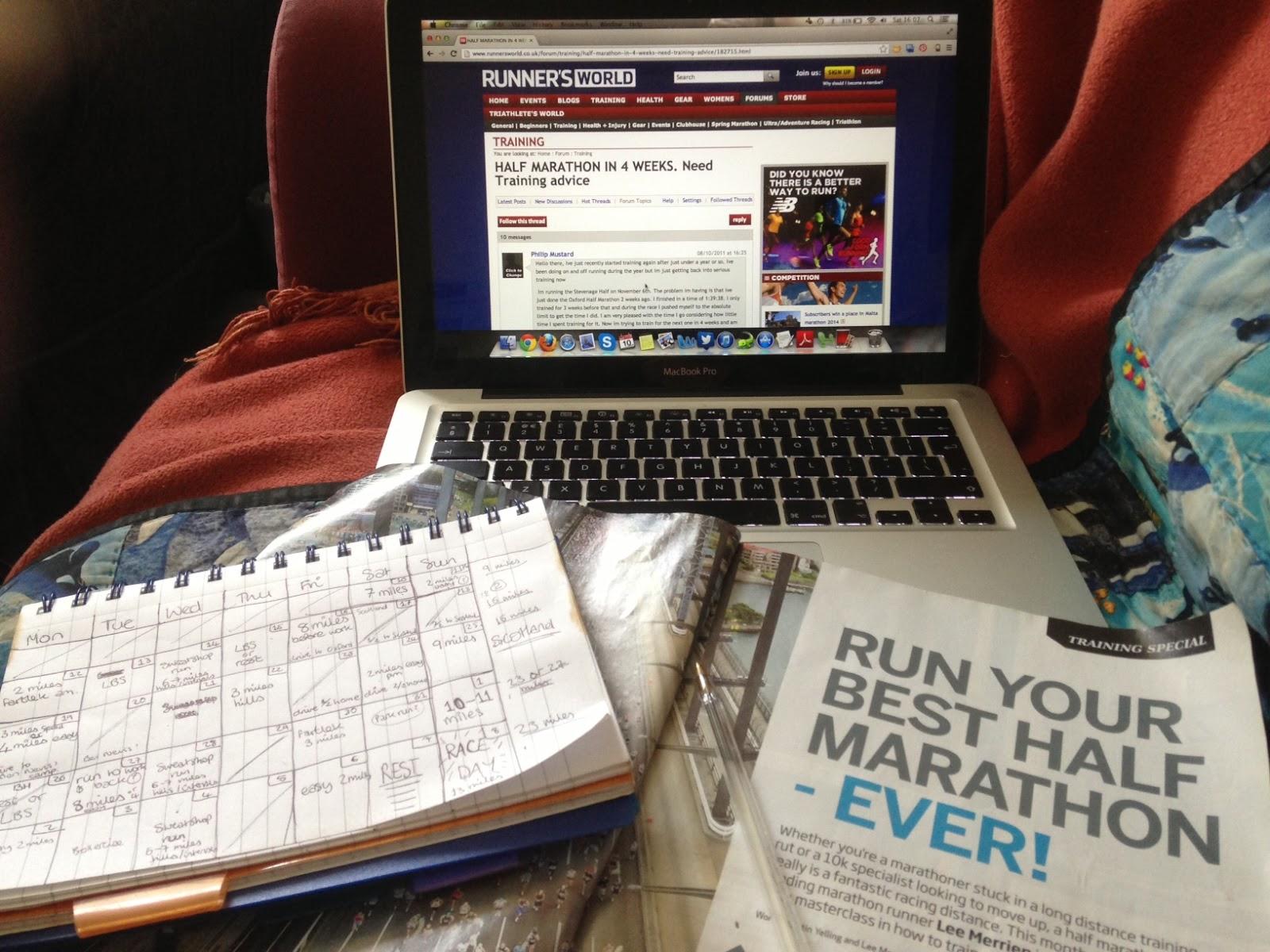 4 week half marathon training plan
