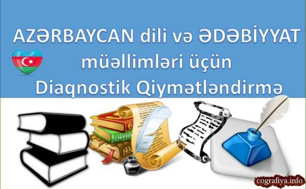 Azərbaycan dili və Ədəbiyyat müəllimləri üçün Diaqnostik Qiymətləndirmə