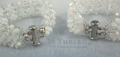 Lady_In_white_bracelet_compare_old_new_closure_design