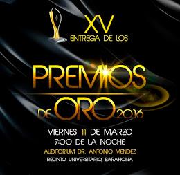 PREMIOS DE ORO BARAHONA 2016
