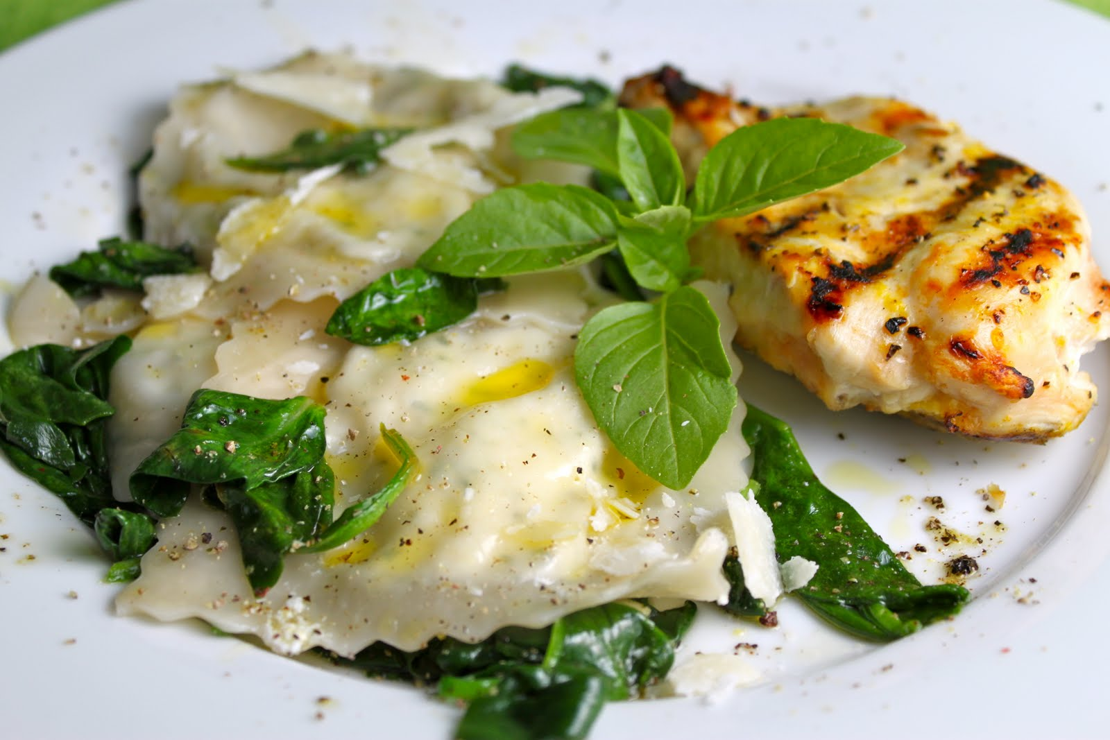 Ricotta & Herb Ravioli with Spinach and Pine Nuts | The Café Sucre ...