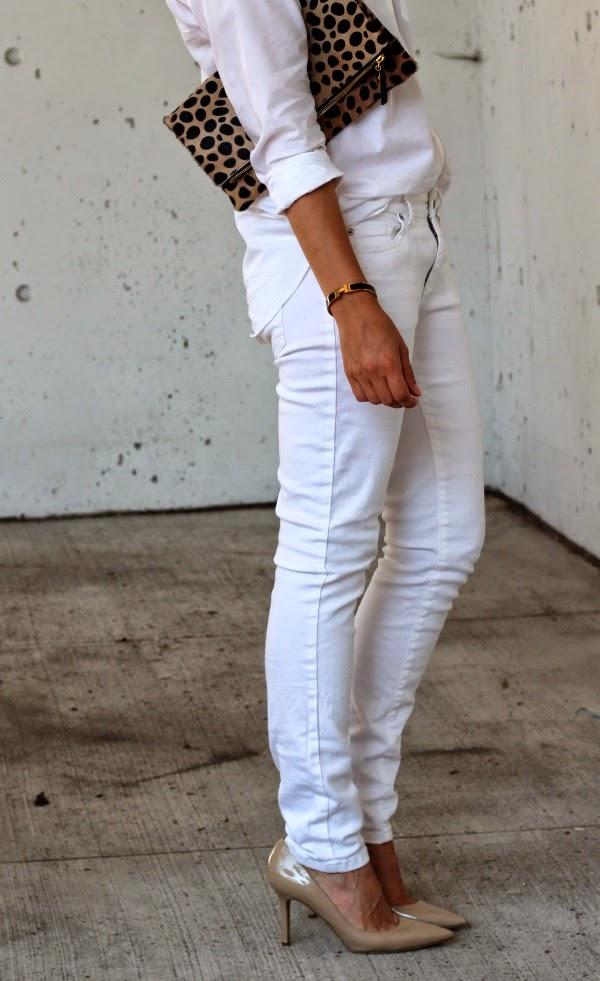 white skinny jeans