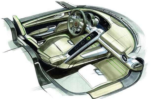Porsche 918 Rsr Interior. 918 RSR hybrid supercar.