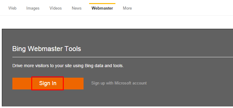 WordPress Blog To Bing and Yahoo Webmaster