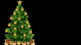 Arvore de Natal com Estrela e prendas e bolinhas png