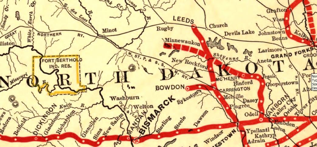 Revenues Northern Pacific Railway Waybill From New Salem - Where is north dakota