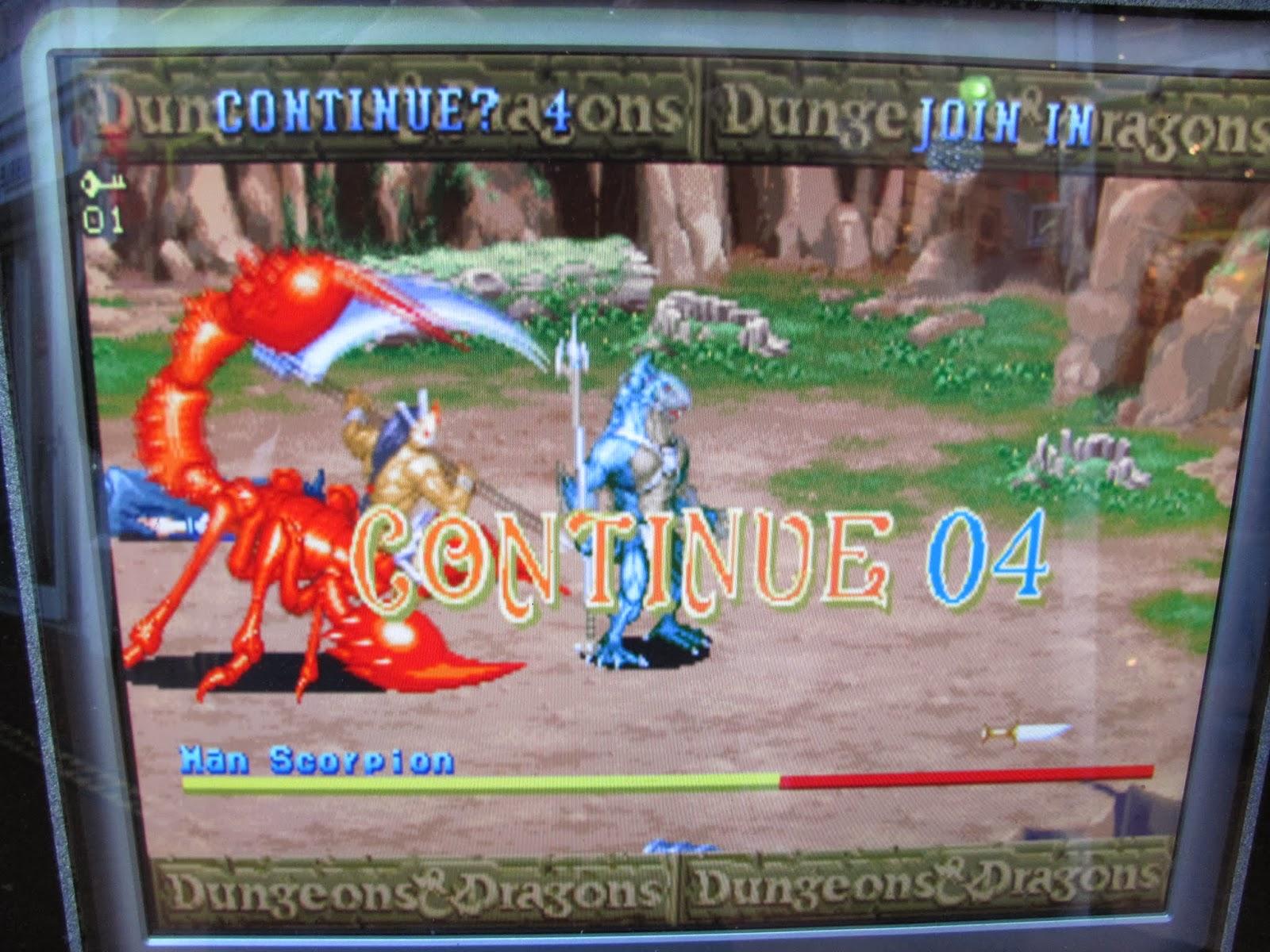 D&D Shadow Over Mystara arcade continue screen