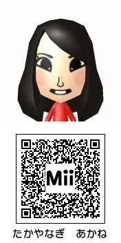 高柳明音(SKE48)のMii QRコード トモダチコレクション新生活
