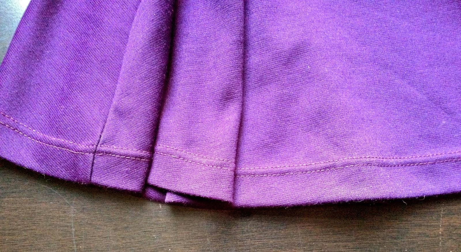 Diary of a Chainstitcher Purple Ponti Knit Lady Skater Dress Sewing Pattern